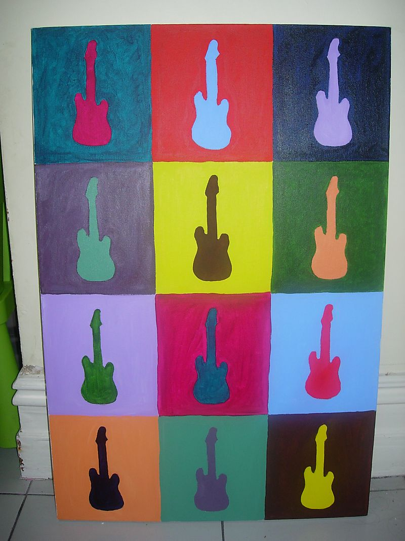 Guitar canvas 005